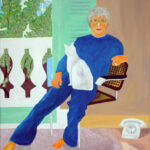 Pándy András David Hockney műtermében