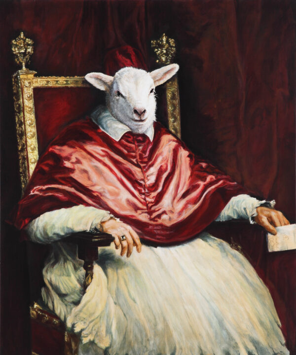 The earthly governor of the heavenly lamb in Velázquez's Studio